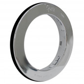 """Snap-In Theft-Resistant Flange For 4"""" Round LED Lights, Chrome Plated thumbnail"""