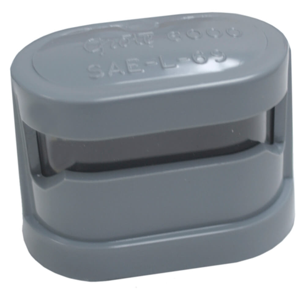 resealable license light protective lens cap gray