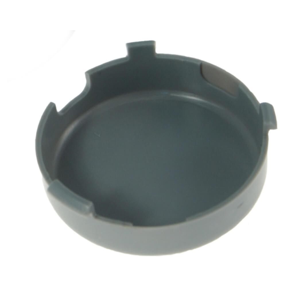 """Brida antirrobo de montaje y tapa de retención de conector flexible para luces redondas de 2 1/2"""", Tapa, gris"""