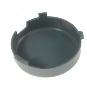 """Theft-Resistant Mounting Flange & Pigtail Retention Cap For 2 1/2"""" Round Lights, Cap, Gray"""
