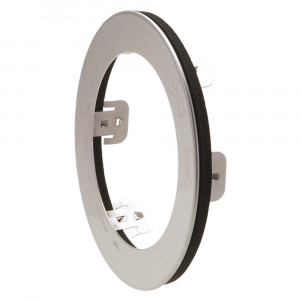 "Stainless Steel Snap-In Theft-Resistant Flange For 4"" Round LED Lights, 4 1/2"" Size"