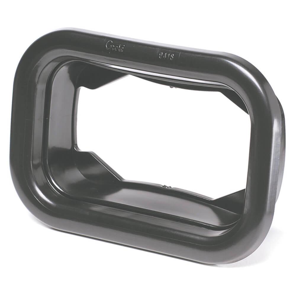 Grommet For Rectangular Lights, Mounting Grommet, Black