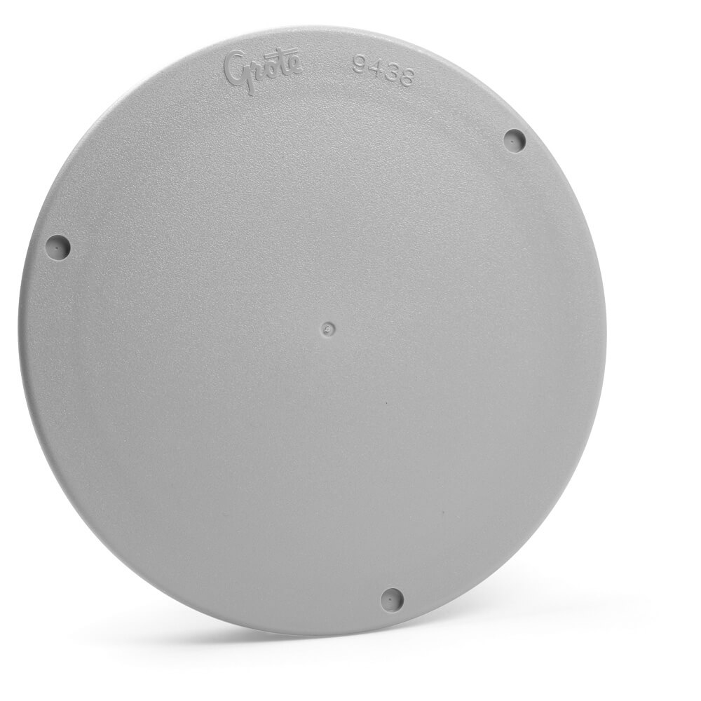 Four Inch Round Snap-In Cover Plate