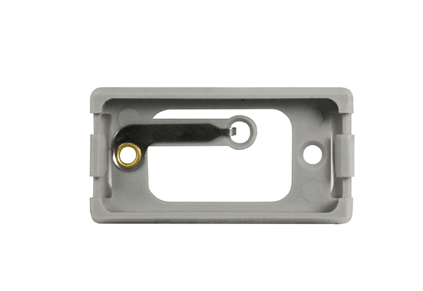 Mounting bracket for small rectangular marker light