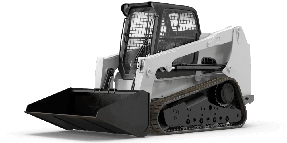 compact tracked front loader