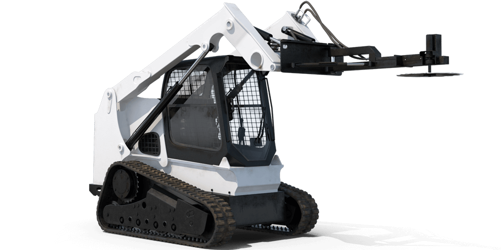 compact tracked loader with saw