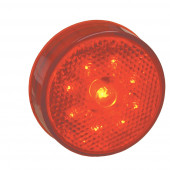 led hi count 2 half clearance marker light reflector red thumbnail