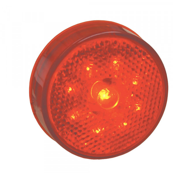 led hi count 2 half clearance marker light reflector red