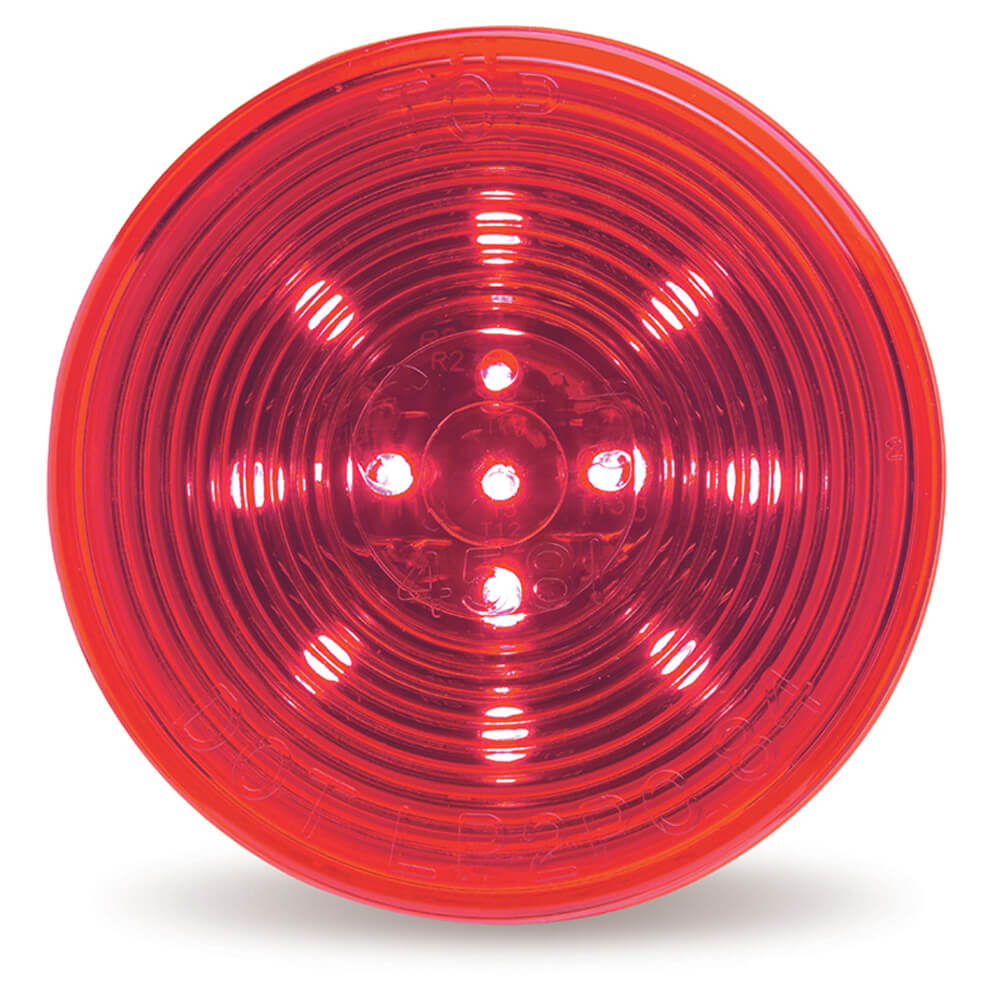 optic red hi count 2 half led clearance marker light