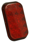 hi count rectangular led stop tail turn light red thumbnail