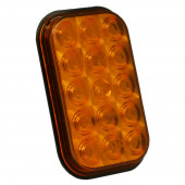 hi count rectangular led stop tail turn light amber