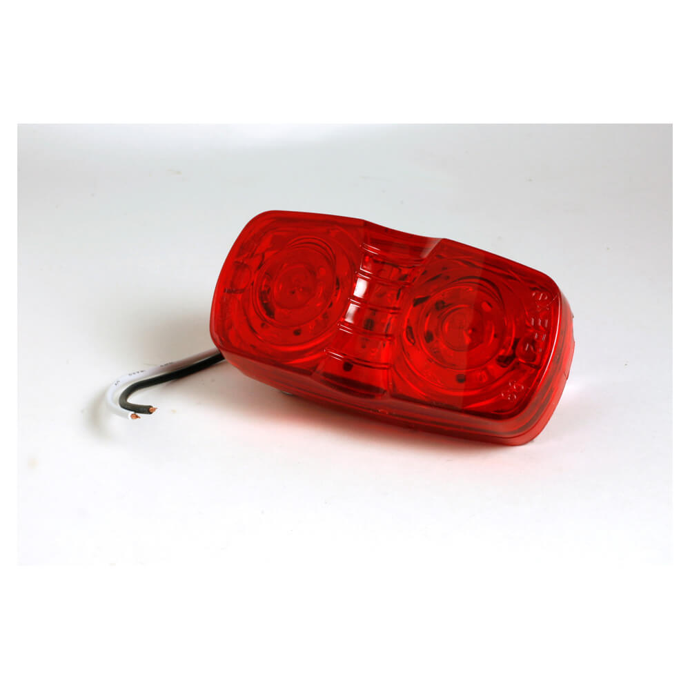hi count square corner 13 diode led clearance marker light red