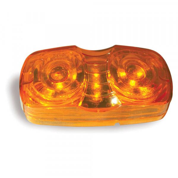 hi count square corner 13 diode led clearance marker light amber