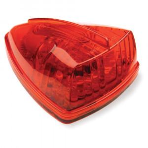 hi count school bus wedge led marker red