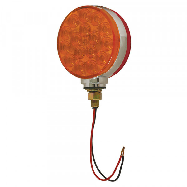 4 hi count double face led light red amber