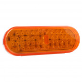 oval led stop tail turn light yellow thumbnail
