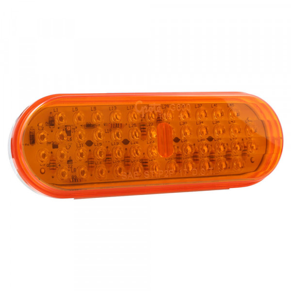 oval led stop tail turn light yellow