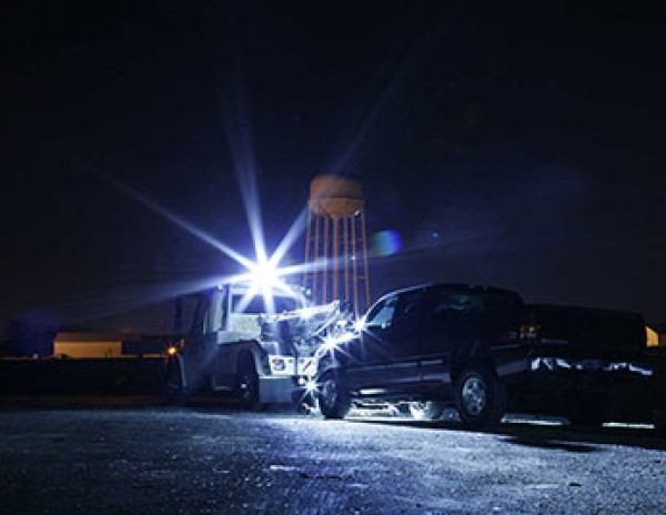 Grote LED Lights on tow truck