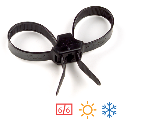 Grote's nylon cable ties are hygroscopic