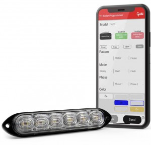 warning strobe lights with mobile app