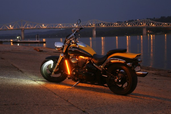 Grote LED Lights strips on a motorcycle