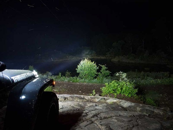 Grote led lights on jeep at night