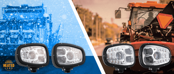 grote heated snow plow and combination driving lights