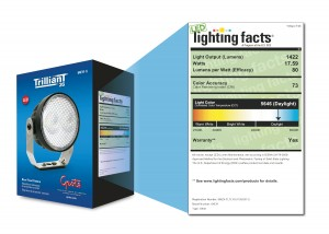Grote T26 Lighting Facts label