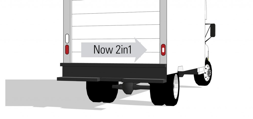 Grote's new LED S/T/T lights on box truck illustration