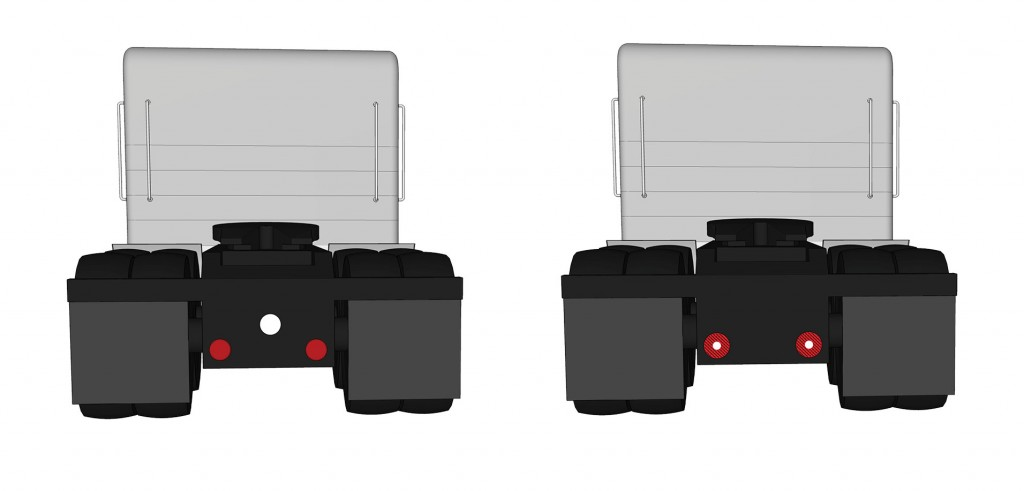 Grote's new LED S/T/T lights on tractor trailer illustration