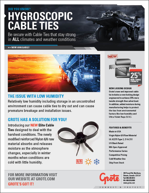 Grote Cable Ties PDF Icon - English