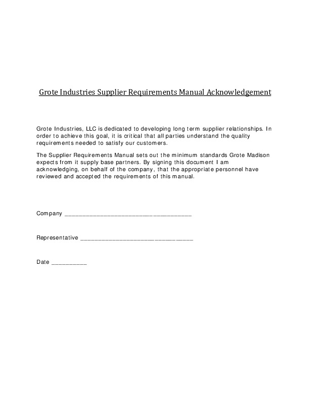 Acknowledgment Form