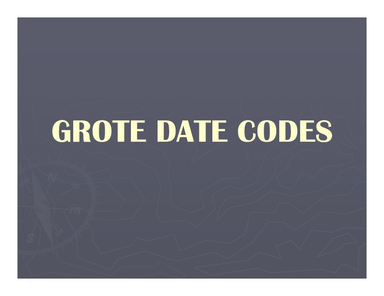 Grote Data Codes