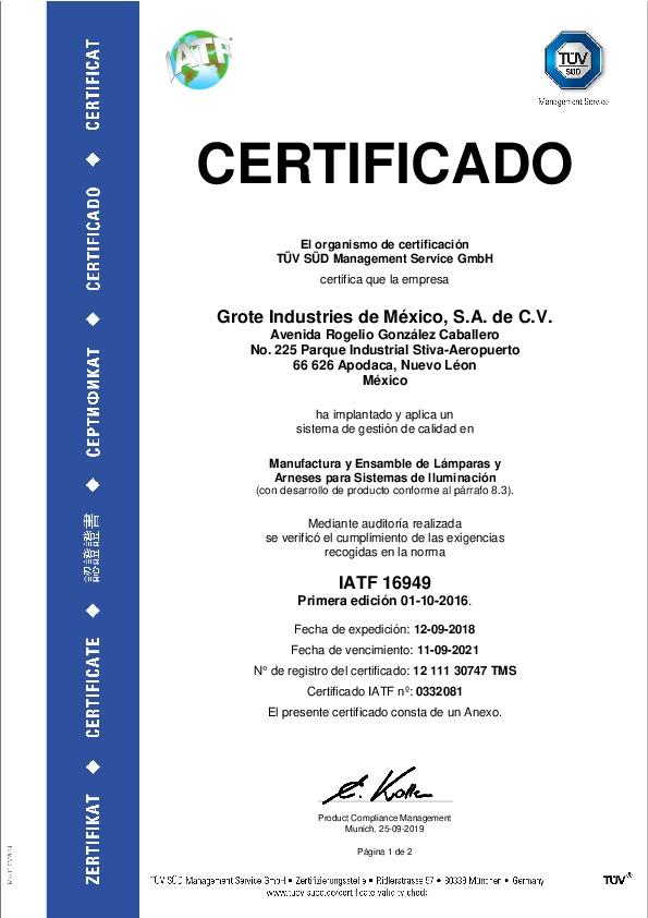 IATF 16949 (espagnol)