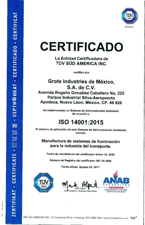 ISO 14001:2015 (espagnol)