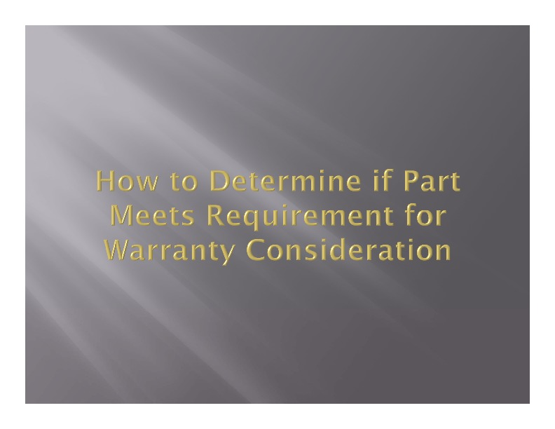 How to Determine if Warranty