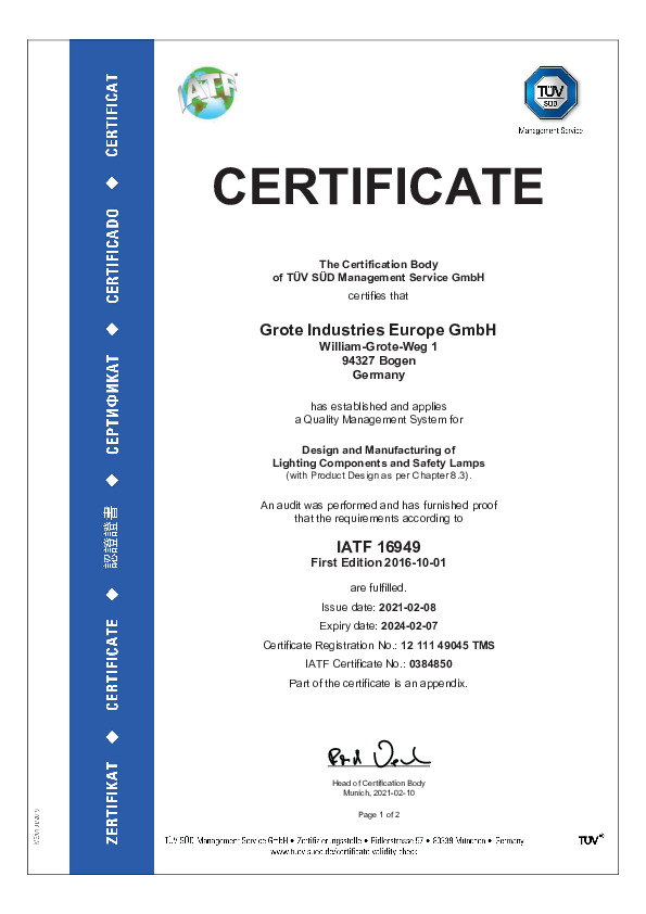 IATF 16949 (anglais)