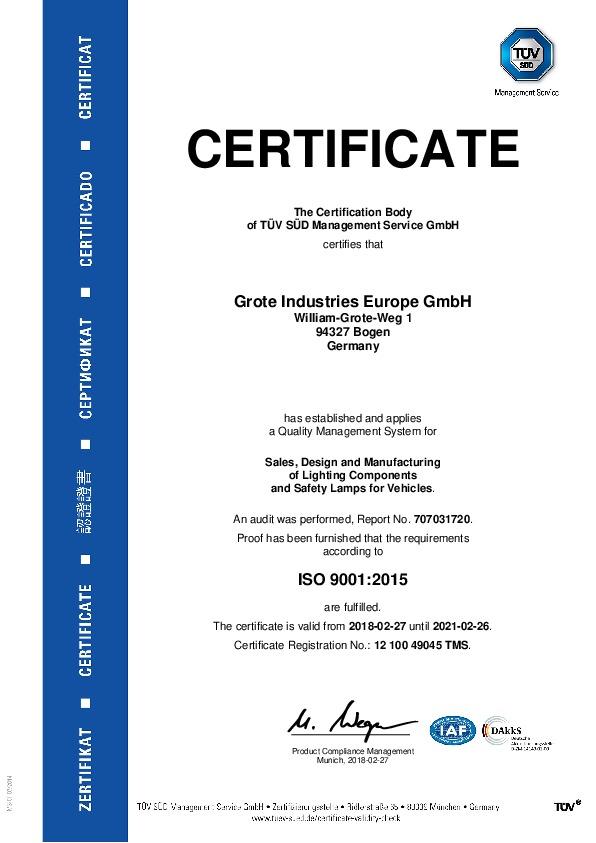 ISO 9001 (anglais)