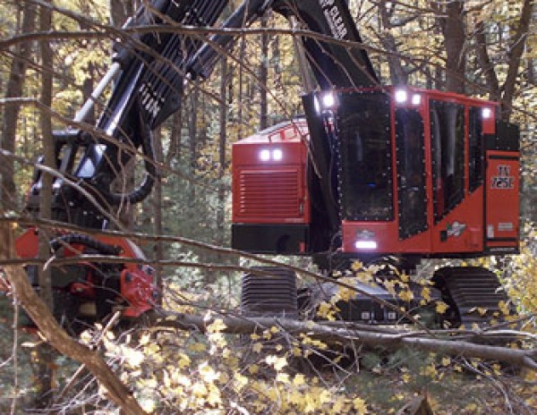 Grote LED lights on forestry equipment