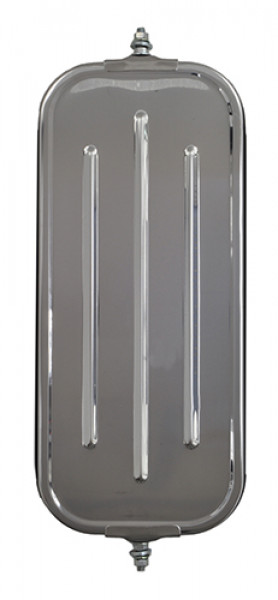 OEM-Style Flat Ribbed-Back West Coast Mirror, Stainless Steel