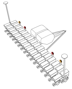 Illustration of Grote lights on ag equipment