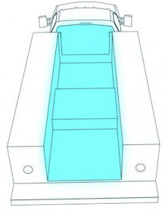 illustration of truck bed lighting on a work truck