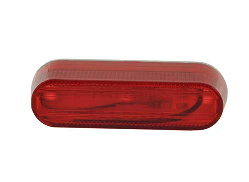 thin line single bulb clearance marker light red - 360