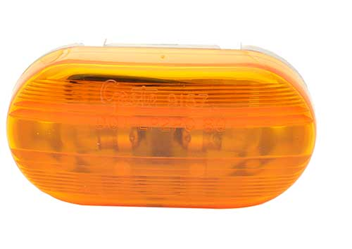 two bulb oval pigtail type clearance marker light yellow optic - 360