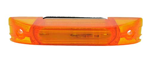 turtleback thin line single bulb clearance marker light yellow - 360