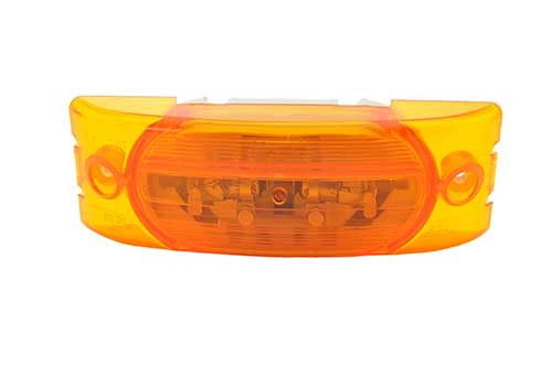 Two-Bulb Turtleback® No-Slice Clearance Marker Light, Optic Lens, Amber - 360