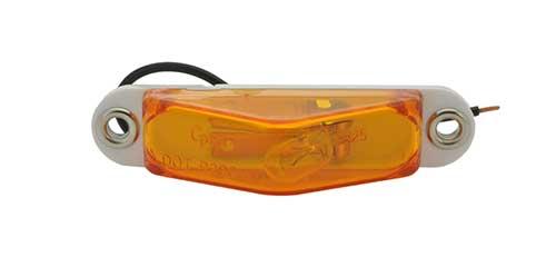 clearance marker light peak lens blunt amber cut - 360
