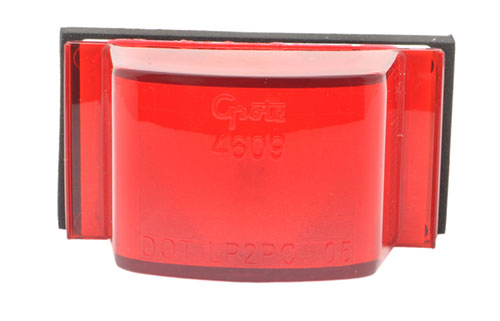 Small Square PC-Rated Clearance Marker Light, Red - 360
