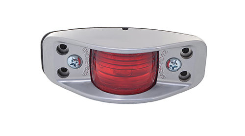 die cast aluminum clearance marker light flat back red - 360