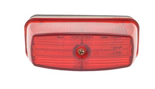 school bus rectangular marker light red - 360